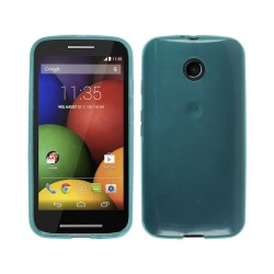 Funda Gel Tpu  Motorola Moto E Color Azul