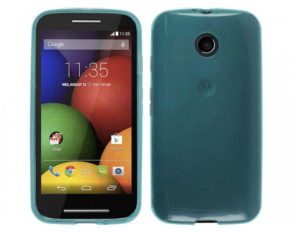 Funda Gel Tpu  Motorola Moto E Color Azul