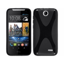 Funda Gel Tpu HTC Desire 310 Modelo X Line Color Negra