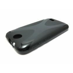 Funda Gel Tpu HTC Desire 310 Modelo X Line Color Negra
