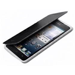 Funda Soporte Piel Negra Mofi para Huawei Ascend Y530