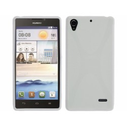 Funda Gel Tpu Huawei Ascend G630 Modelo X Line Color Blanca