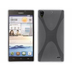 Funda Gel Tpu Huawei Ascend G630 Modelo X Line Color Transparente