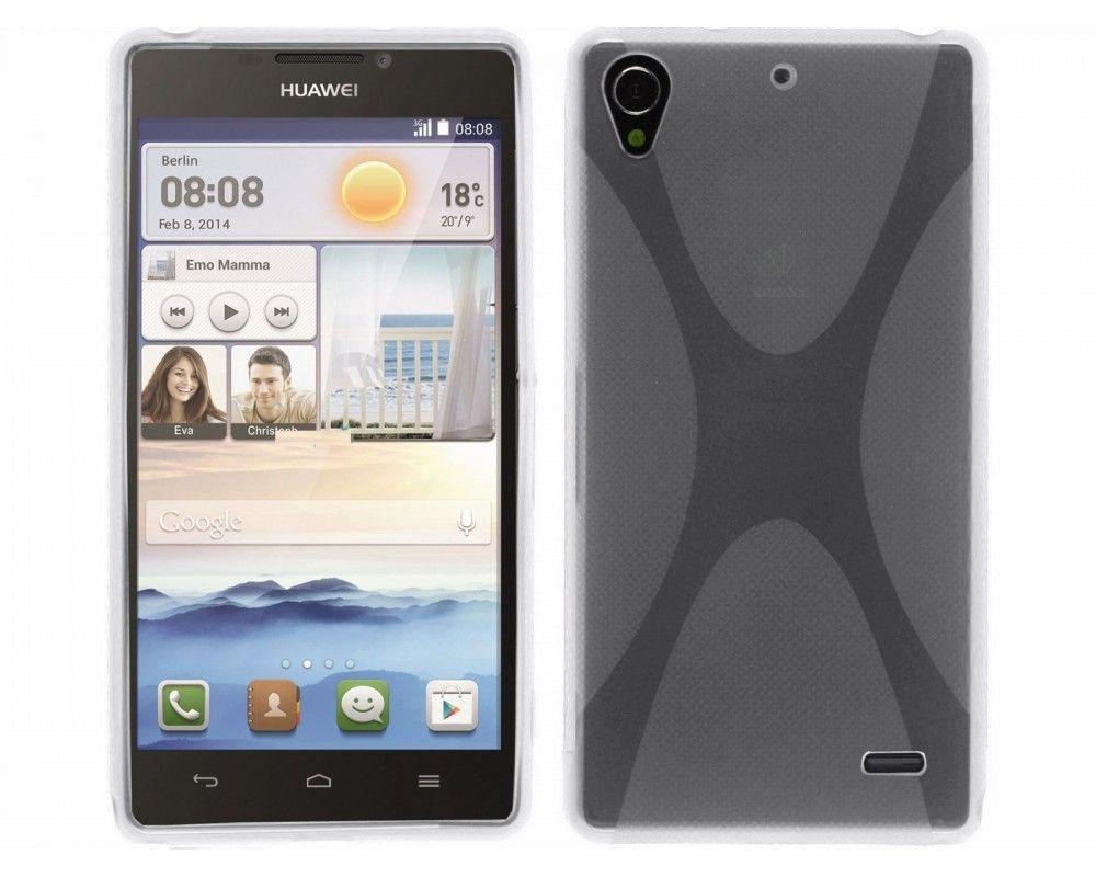 Funda Gel Tpu Huawei Ascend G630 Modelo X Line Color Transparente