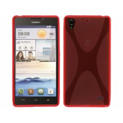 Funda Gel Tpu Huawei Ascend G630 Modelo X Line Color Roja