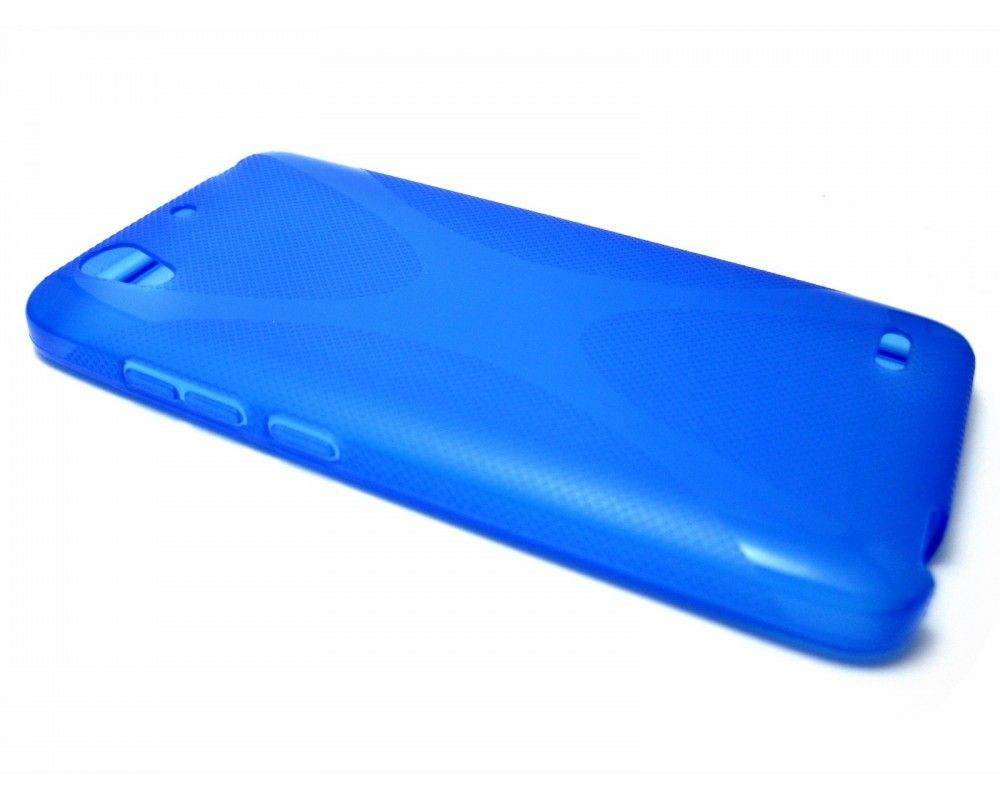 Funda Gel Tpu Huawei Ascend G630 Modelo X Line Color Azul