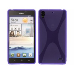 Funda Gel Tpu Huawei Ascend G630 Modelo X Line Color Morada