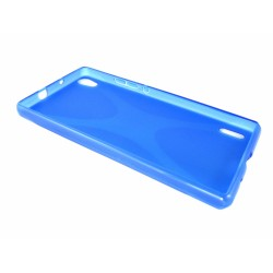 Funda Gel Tpu Huawei Ascend P7 Modelo X Line Color Azul