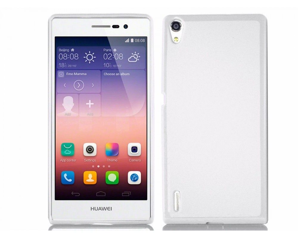 Funda Gel Tpu para Huawei Ascend P7 Color Blanca