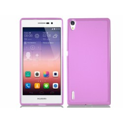 Funda Gel Tpu para Huawei Ascend P7 Color Rosa