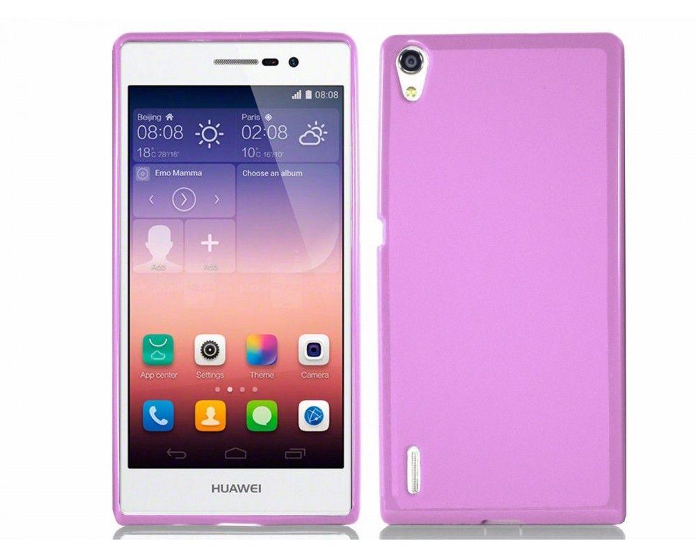 Funda Gel Tpu para Huawei Ascend P7 Color Rosa