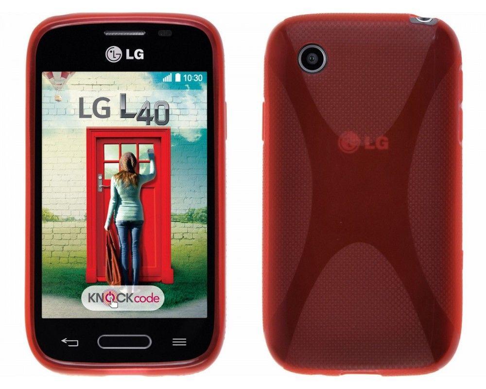 Funda Gel Tpu Lg Optimus L40 D160  X Line Color Roja