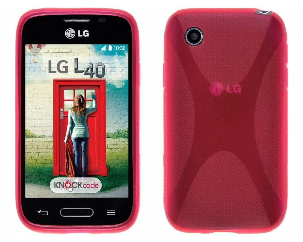 Funda Gel Tpu Lg Optimus L40 D160 X Line Color Rosa