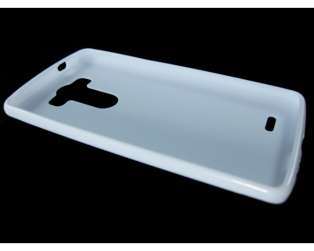 Funda Gel Tpu Lg G3 D855  X Line Color Blanca