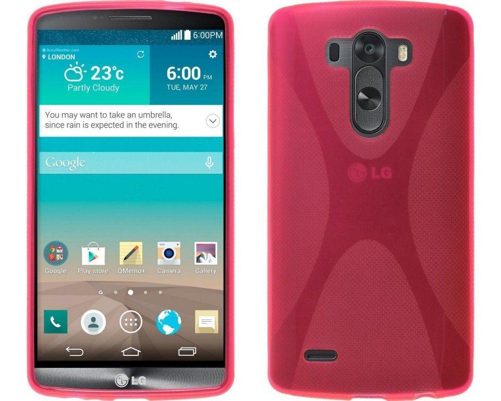 Funda Gel Tpu Lg G3 D855 X Line Color Rosa