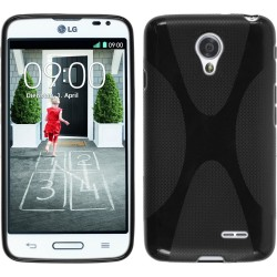 Funda Gel Tpu Lg F70 D315  X Line Color Negra