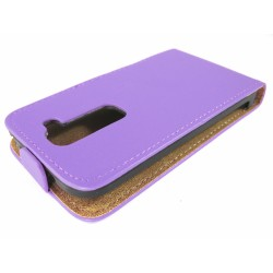 Funda Piel Premium Ultra-Slim Lg Optimus G2 Mini D620 Morada