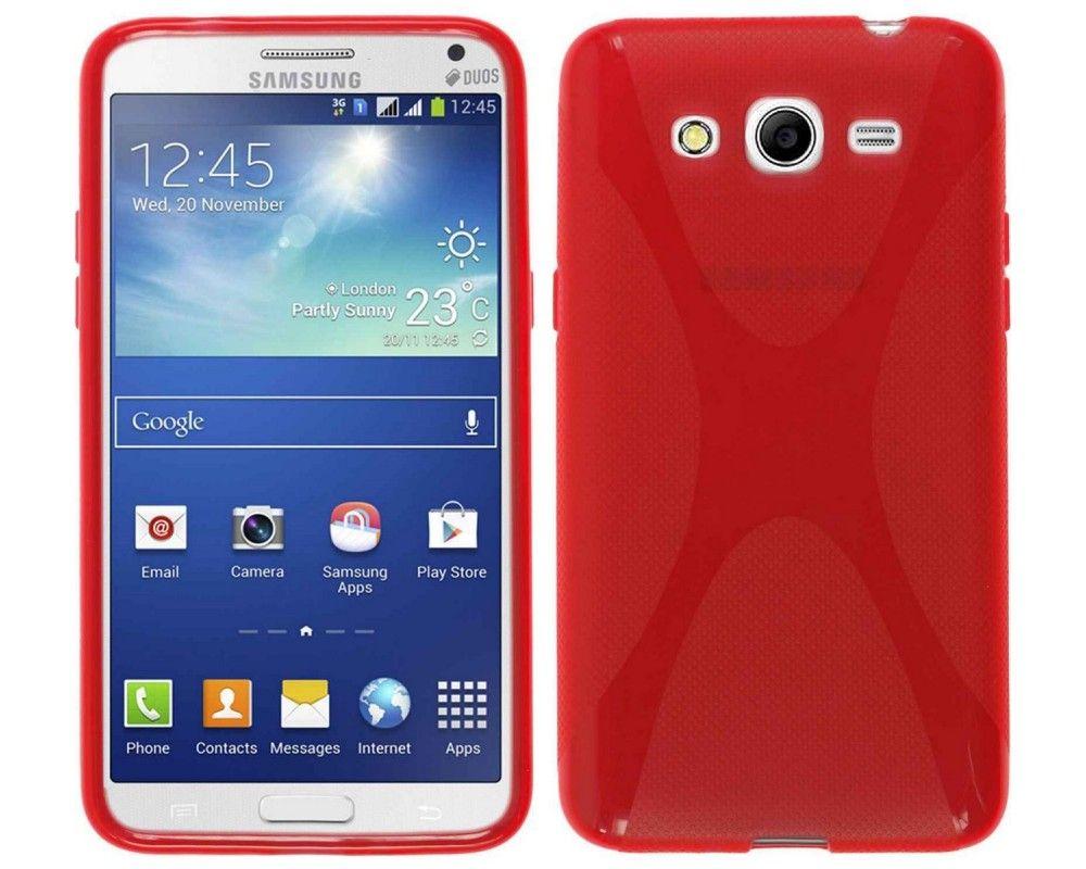 Funda Gel Tpu Samsung Galaxy Core 2 G355H X Line Color Roja
