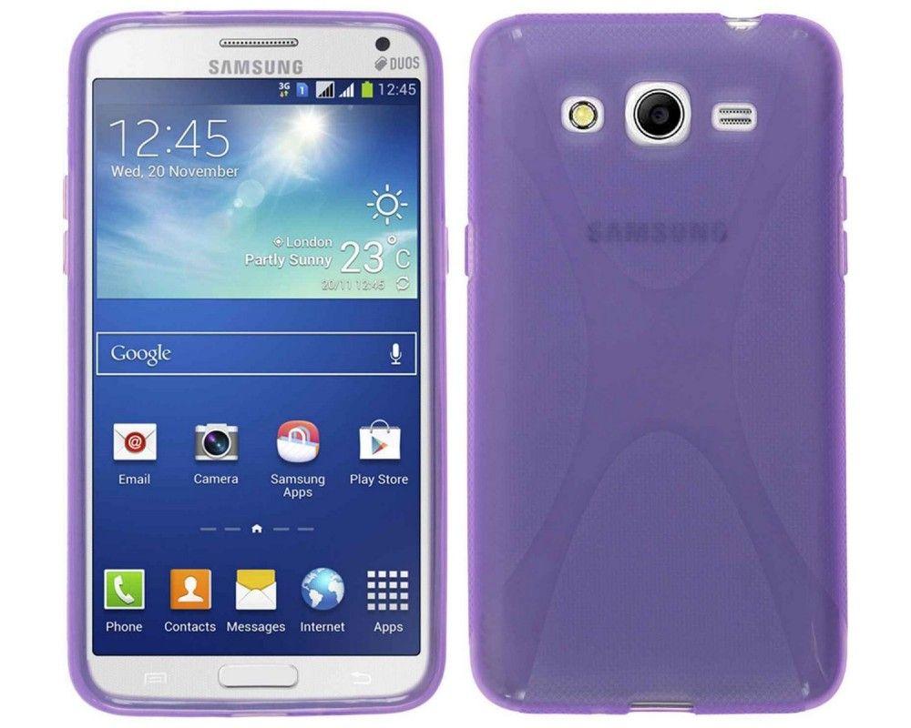 Funda Gel Tpu Samsung Galaxy Core 2 G355H X Line Color Morada