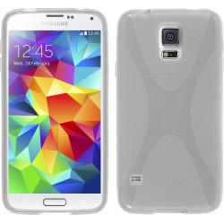 Funda Gel Tpu Samsung Galaxy S5 Mini G800F  X Line Color Transparente