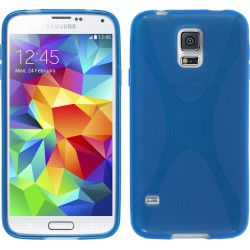 Funda Gel Tpu Samsung Galaxy S5 Mini G800F X Line Color Azul