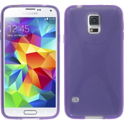 Funda Gel Tpu Samsung Galaxy S5 Mini G800F  X Line Color Morada