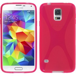 Funda Gel Tpu Samsung Galaxy S5 Mini G800F  X Line Color Rosa