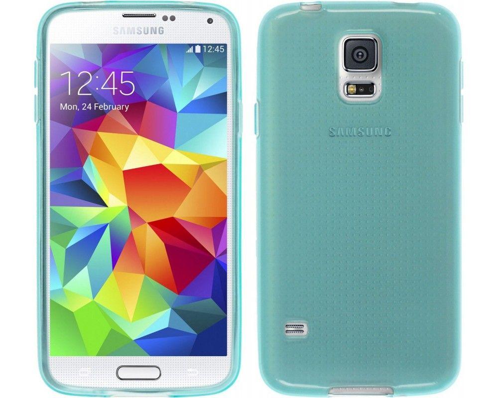 Funda Gel Tpu para Samsung Galaxy S5 Mini G800F Color Azul