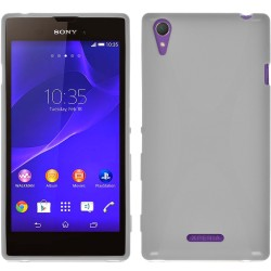 Funda Gel Tpu Sony Xperia T3 X Line Color Blanca