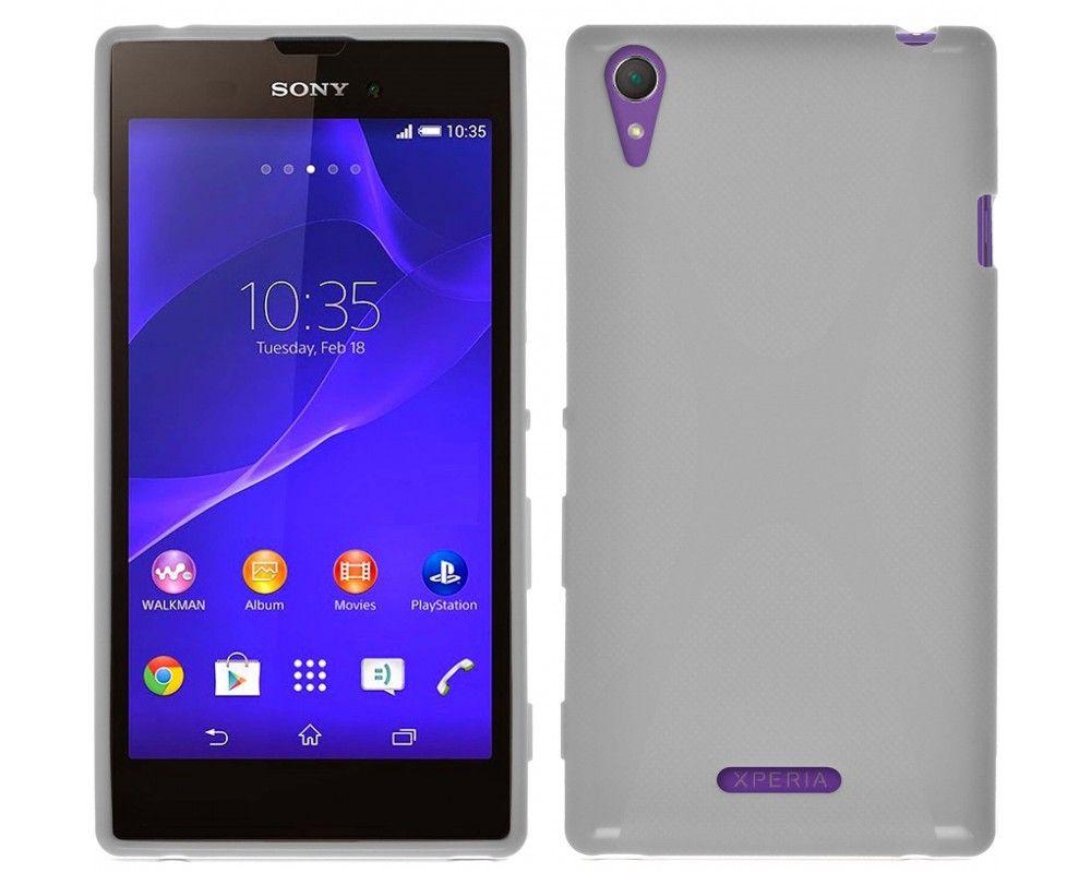 Funda Gel Tpu Sony Xperia T3 X Line Color Blanca