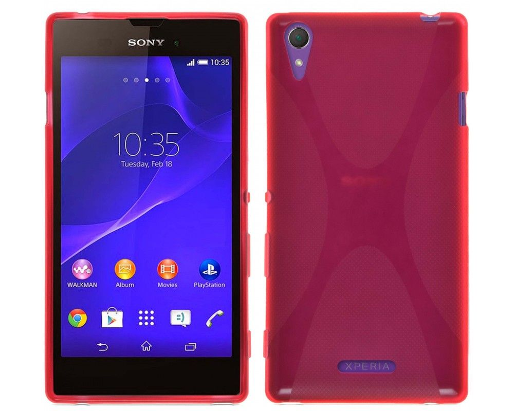 Funda Gel Tpu Sony Xperia T3 X Line Color Roja