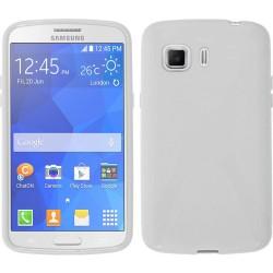 Funda Gel Tpu Samsung Galaxy Young 2 G130H X Line Color Blanca