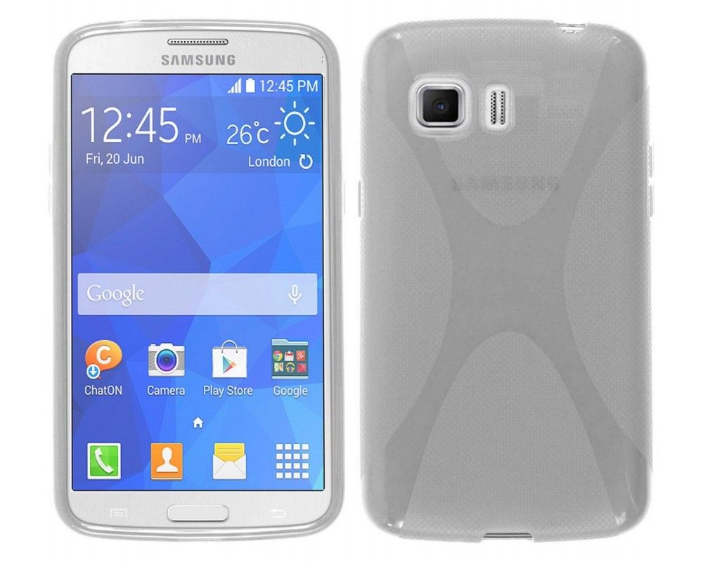 Funda Gel Tpu Samsung Galaxy Young 2 G130H X Line Color Transparente