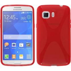 Funda Gel Tpu Samsung Galaxy Young 2 G130H X Line Color Roja