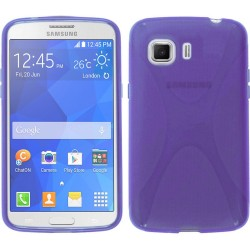 Funda Gel Tpu Samsung Galaxy Young 2 G130H X Line Color Morada