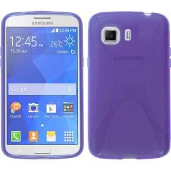 Funda Gel Tpu Samsung Galaxy Young 2 G130H X Line Color Morada