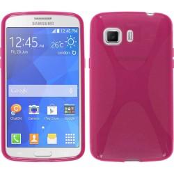 Funda Gel Tpu Samsung Galaxy Young 2 G130H X Line Color Rosa