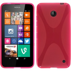 Funda Gel Tpu Nokia Lumia 630 / 635 X Line Color Rosa