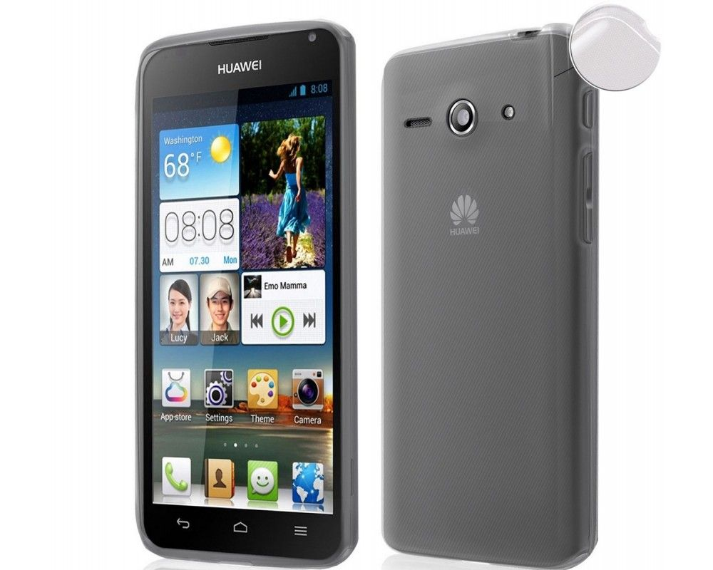 Funda Gel Tpu Fina Ultra-Thin 0,3mm Transparente para  Huawei Ascend Y530