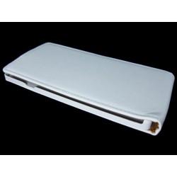 Funda Piel Premium Ultra-Slim Sony Xperia T3 Blanca