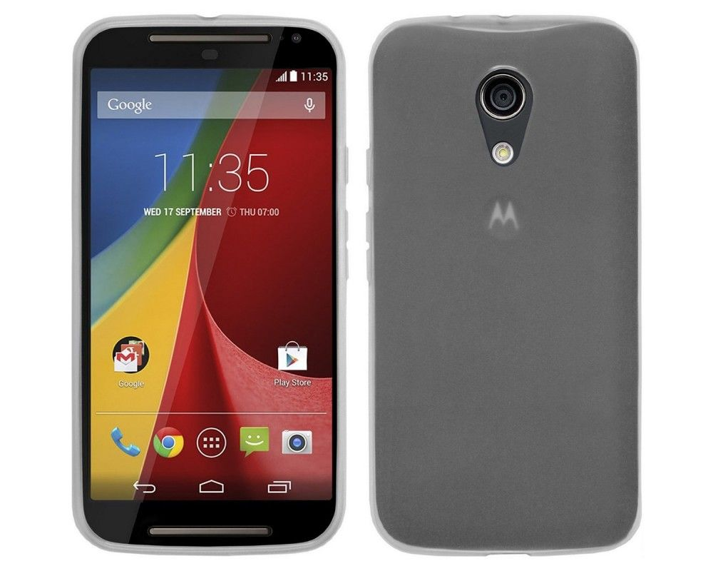 "Funda Gel Tpu para Motorola Moto G 2 5"" (2Nd Gen.) 2014 Color Transparente"