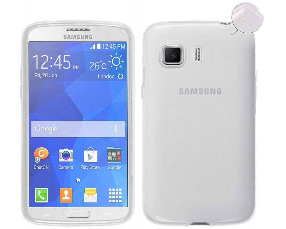 Funda Gel Tpu Fina Ultra-Thin 0,3mm Transparente para Samsung Galaxy Young 2 G130H