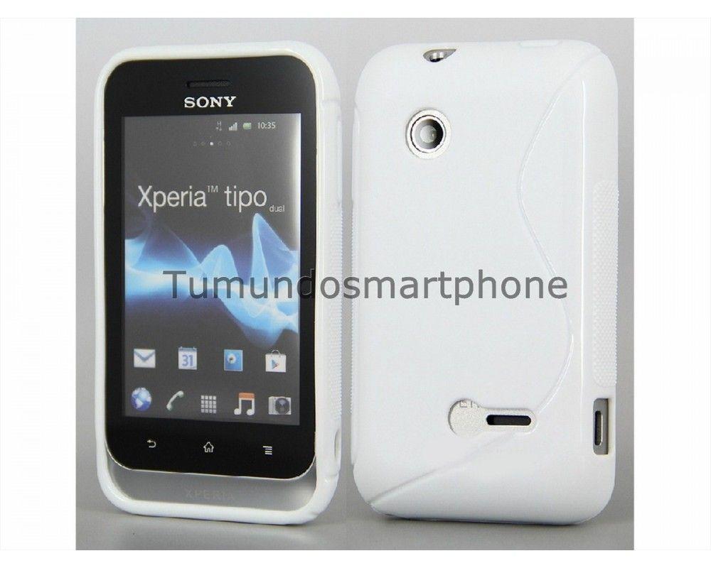 Funda Gel Tpu Sony Xperia Tipo St21i S Line Color Blanca