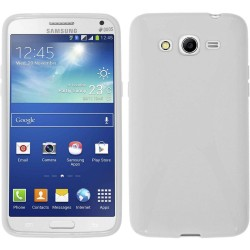 Funda Gel Tpu Samsung Galaxy Core 4G G386F X Line Color Blanca