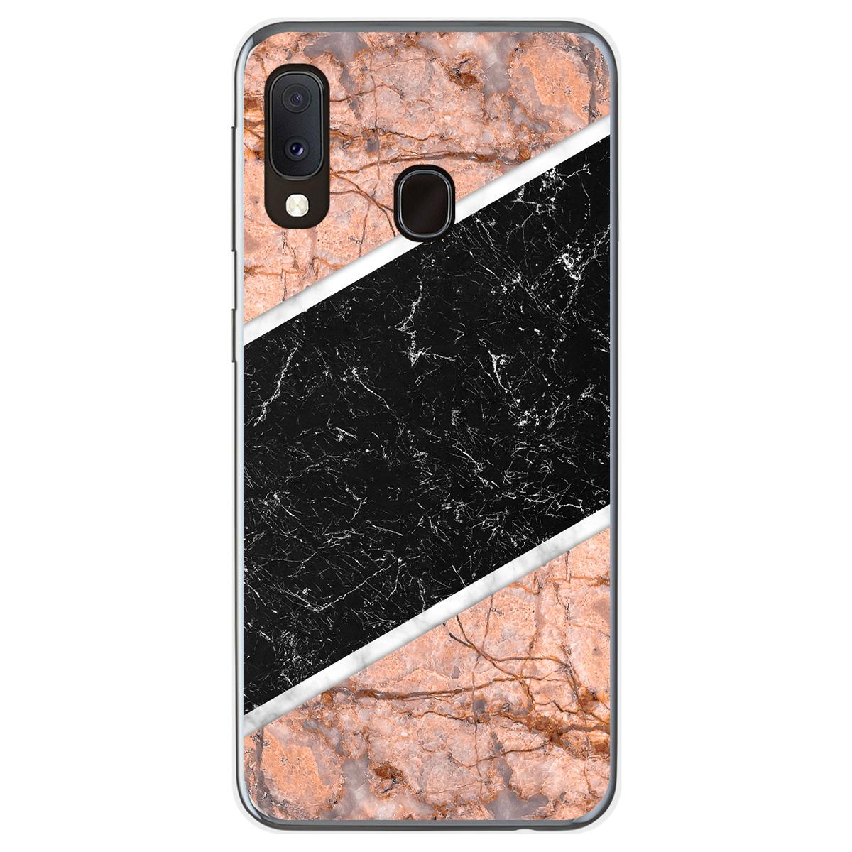 coque galaxy a20e marbre